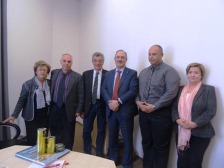 Απο τις συναντήσεις της αποστολής του Δήμου Λέσβου